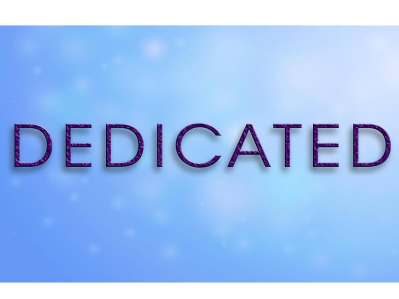 dedicate