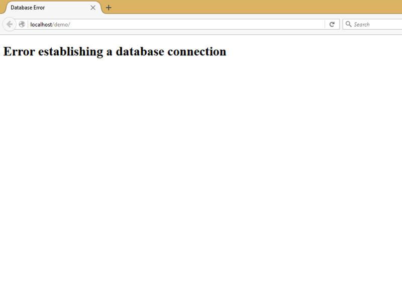 Cách khắc phục lỗi không kết nối được Database trên Host hiệu quả