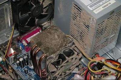 Nguồn máy chủ đóng bụi