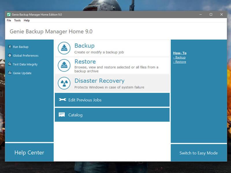 Phần mềm Genie Backup Manager